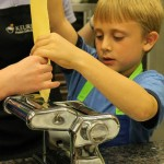 Pasta-making at Italian-themed kid camp