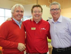 Harald Wusthof, Cooks Corner Owner Peter Burback and Wusthof representative Clark Stone