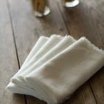 Rustic Napkin White