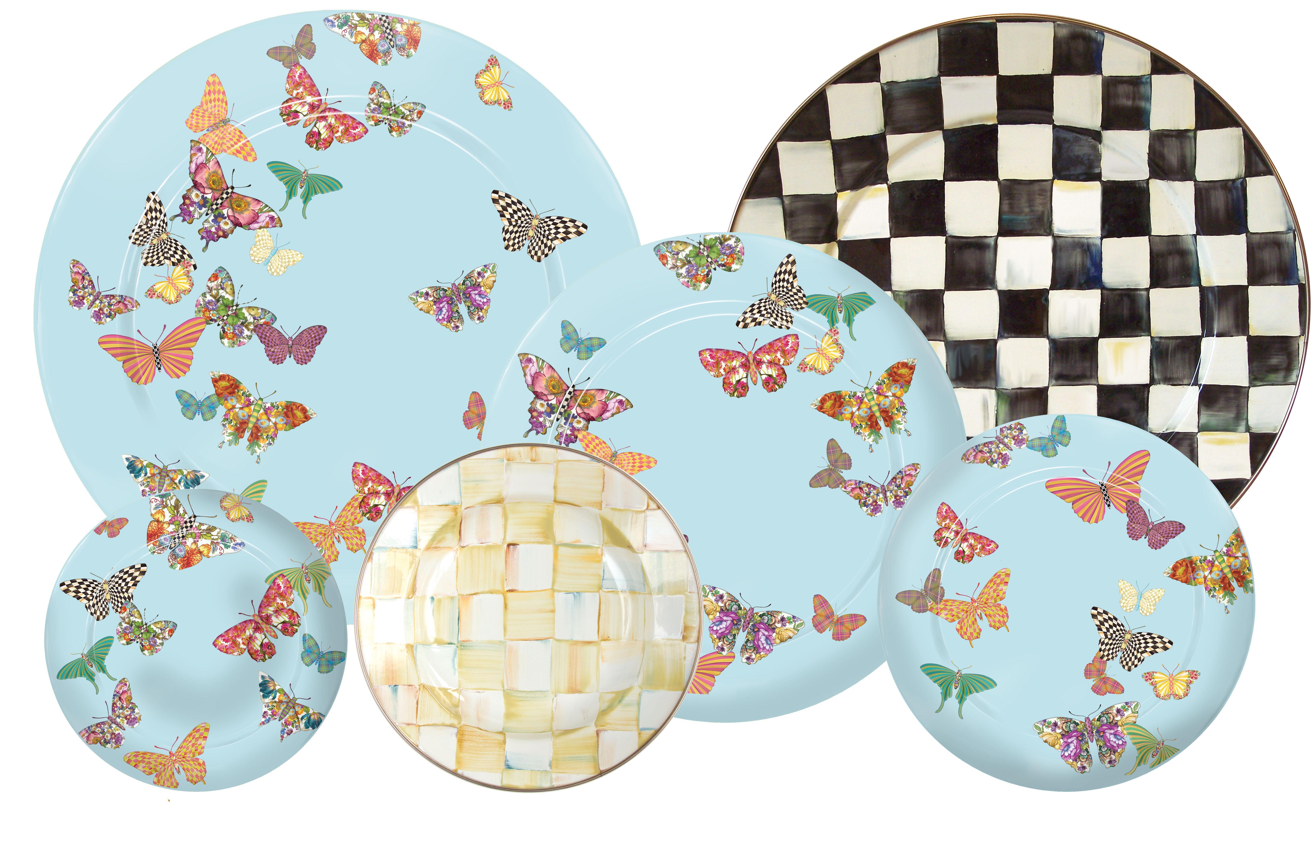 Sky Butterfly Garden Enamelware from MacKenzie-Childs  sc 1 st  Kitchenware News & Sky Butterfly Garden Enamelware from MacKenzie-Childs | Kitchenware ...