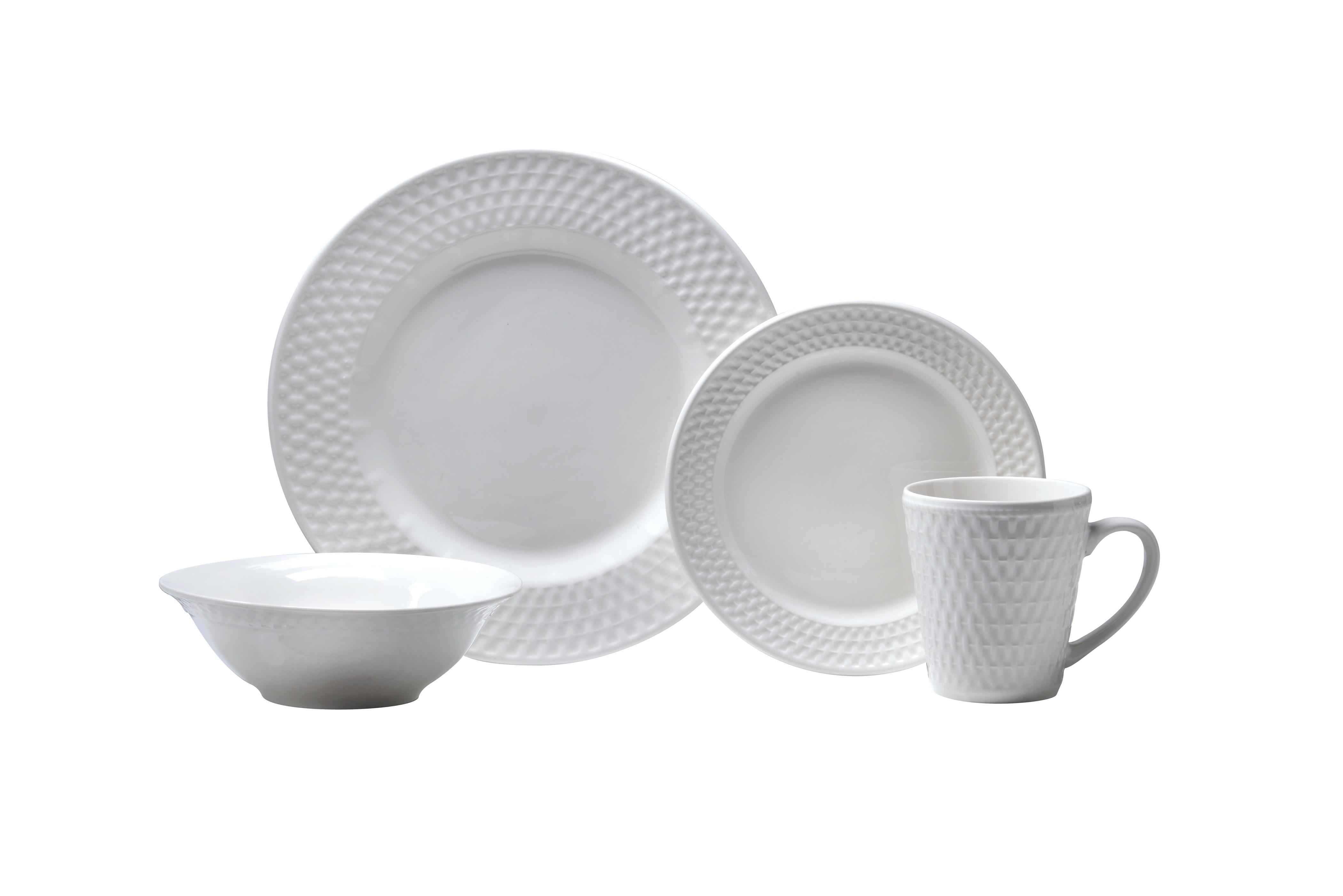 Satin Weave  sc 1 st  Kitchenware News & Oneida Dinnerware Caught In All-White after Labor Day | Kitchenware ...