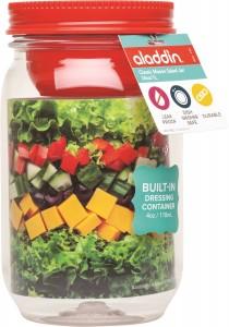 Classic Mason Salad Jar 34oz - Tomato - wPckg