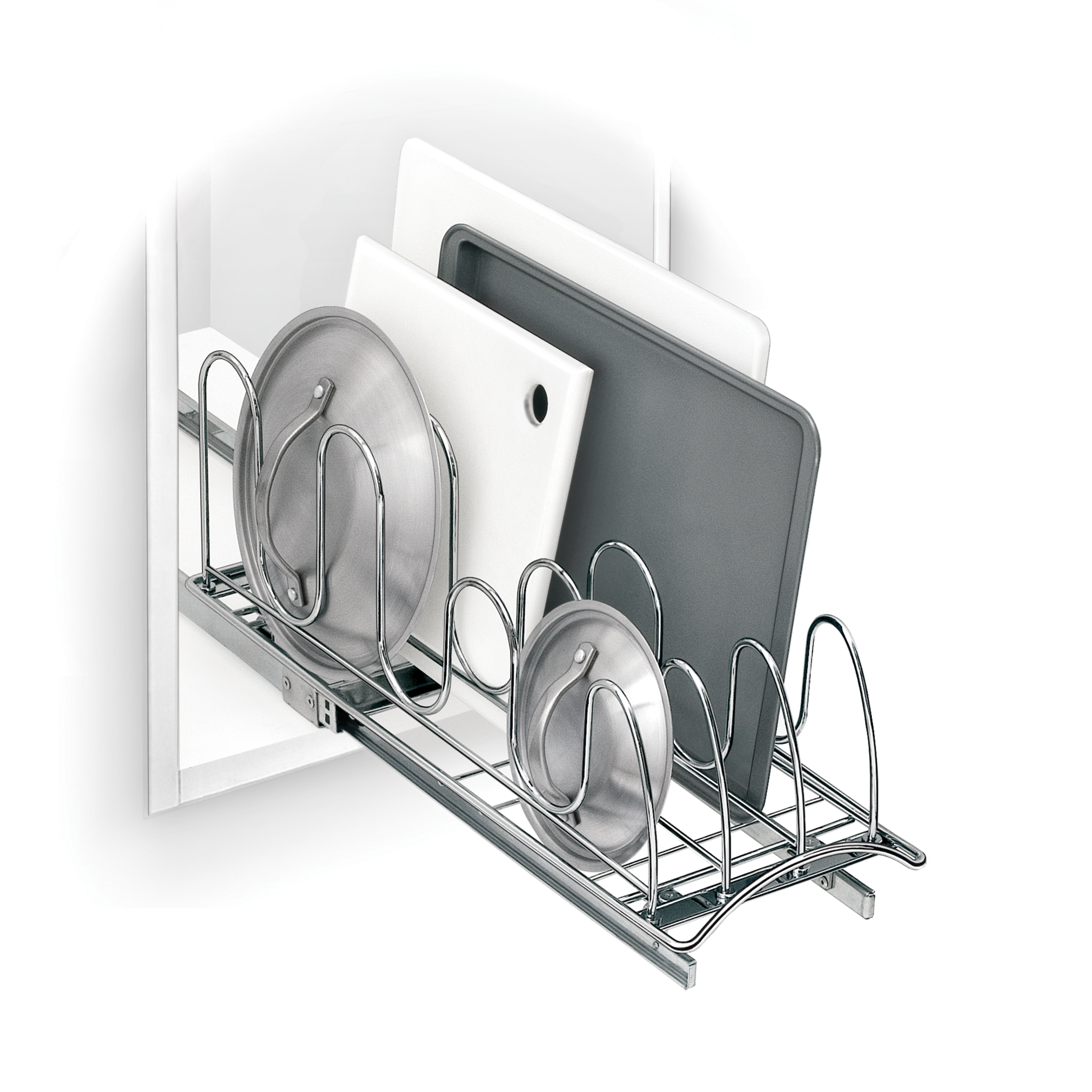 Lynk Roll Out Double Shelf: Kitchen Storage Solutions Tackle Any Problem Area