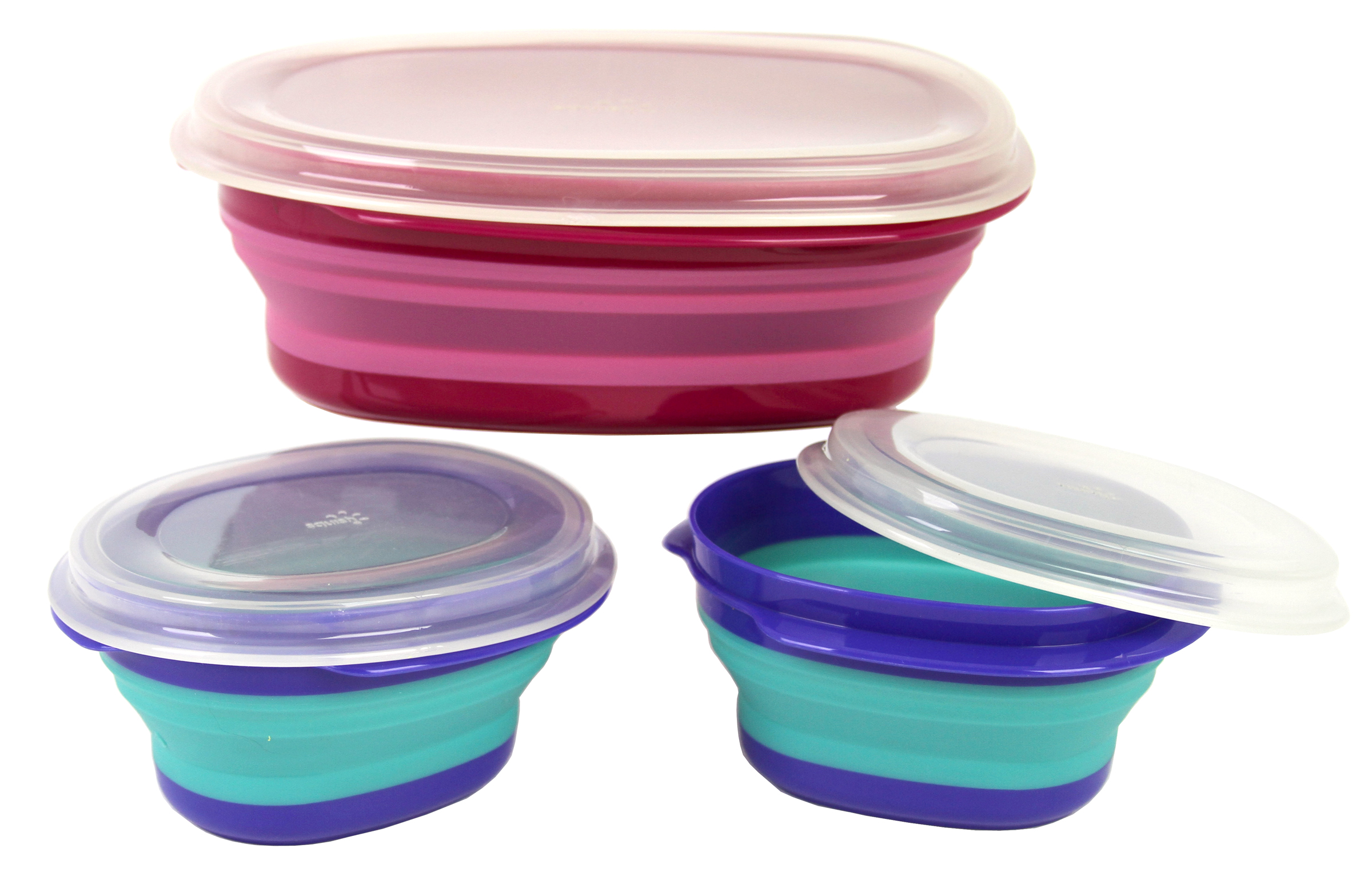 Squish Storage Containers With Lids