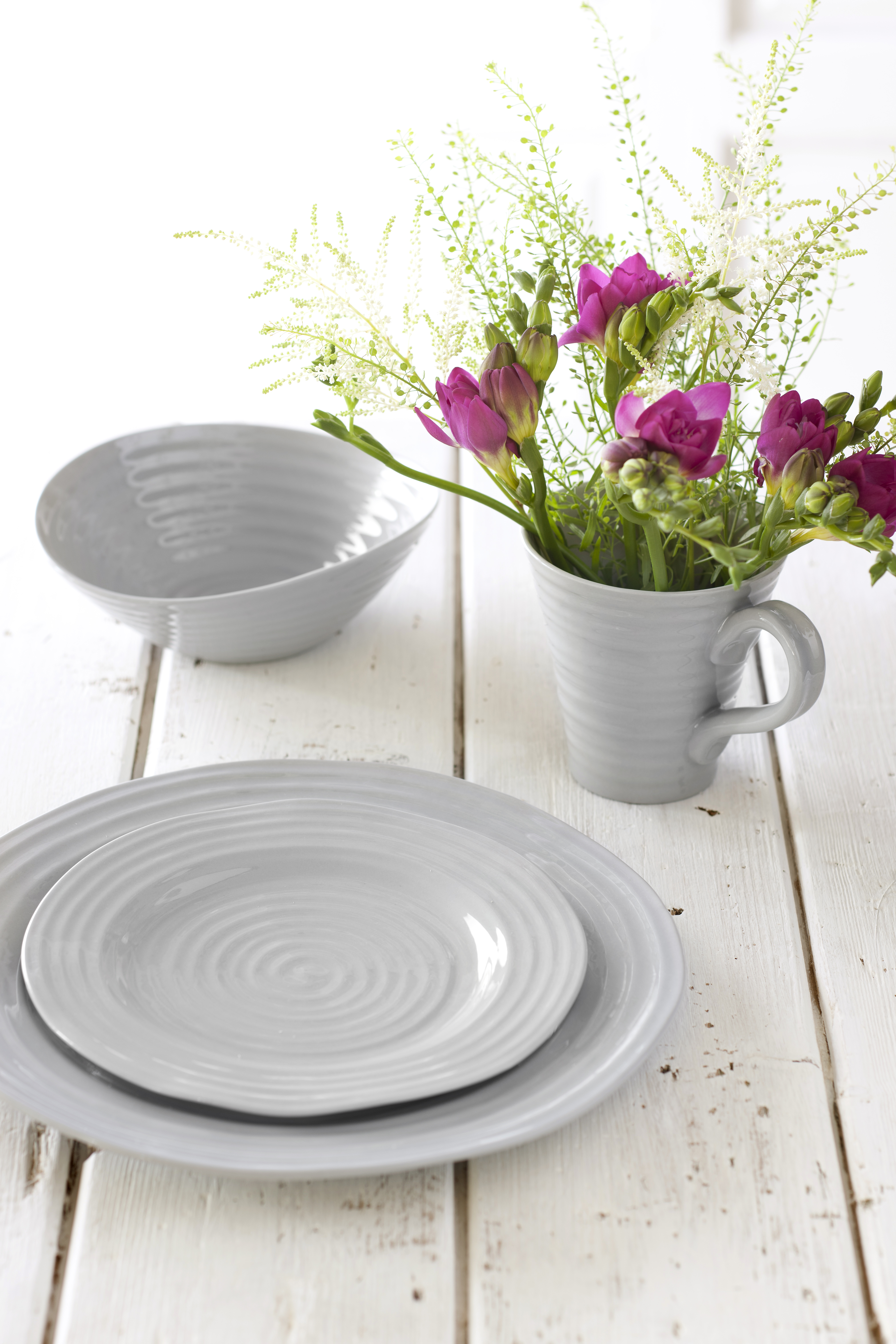 New Sophie Conran for Portmeirion Grey Collection Suite of Organic ...