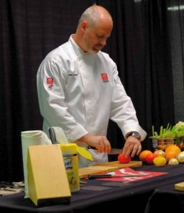 Chef Bernard Janssen from Zwilling teaching knife skills