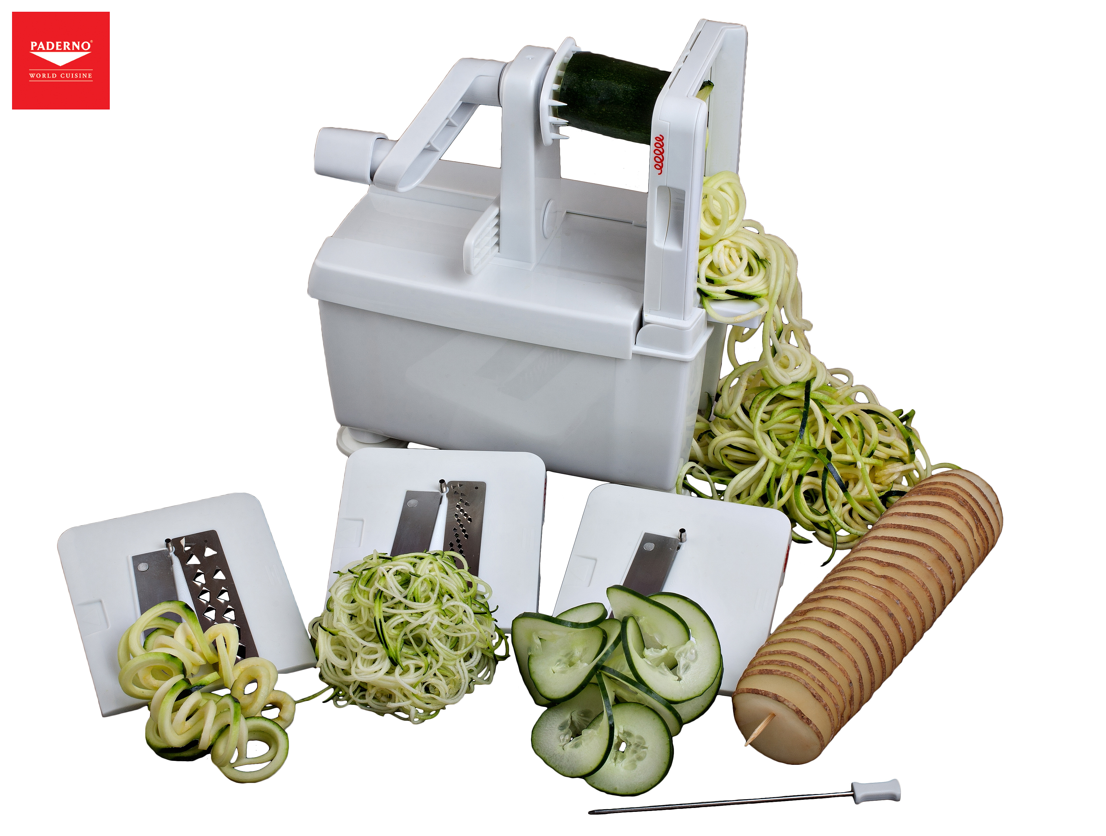Newly redesigned spiral slicer by paderno world cuisine - Paderno world cuisine spiral vegetable slicer ...