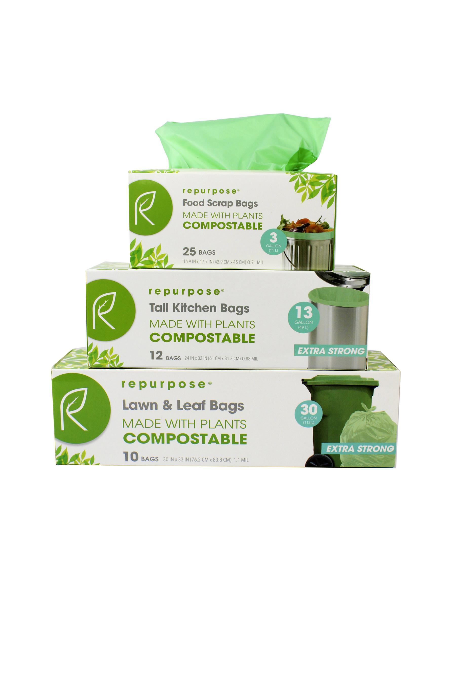 Repurpose Launches Compostable Garbage Bagskitchenware