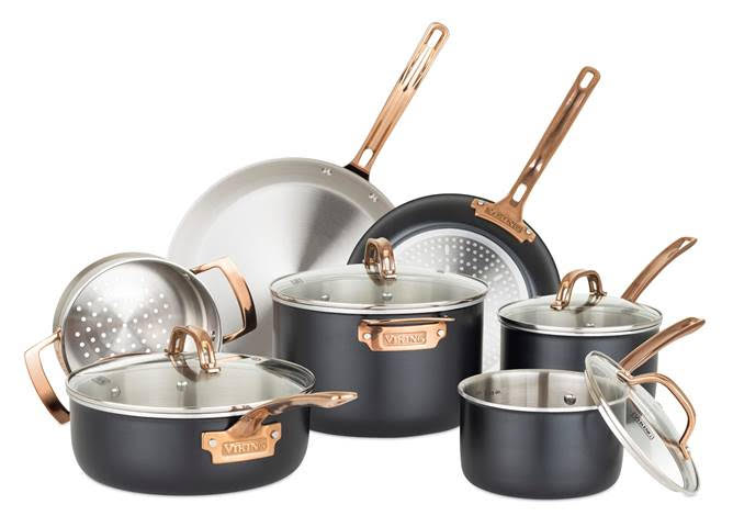 Viking Culinary Introduces Line Of Black And Copper 3 Ply Cookware Kitchenware News Housewares Reviewkitchenware News Housewares Review